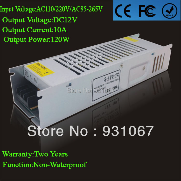 2014 New Product Power Suply 12v 10a High Current Potentiometer 120w Led Driver Ac110/220v for Strip Lamp Free Shipping 1pcs/lot(China (Mainland))