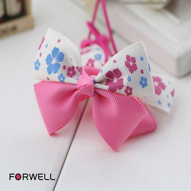 Fabric infants bow hair ring children hair accessories baby girls hair clips hair rope little girls head flower headwear(China (Mainland))