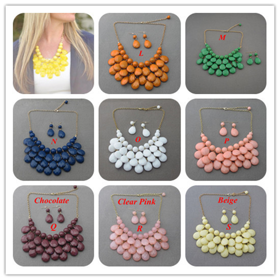 Minimum Order $20 (mixed order)   Teardrop statement bubble bib anthropology necklace