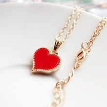 N233  Gossip Girl red love necklace cute necklace cheap jewlery necklace fashion free shipping( min order $10 mixed items order)