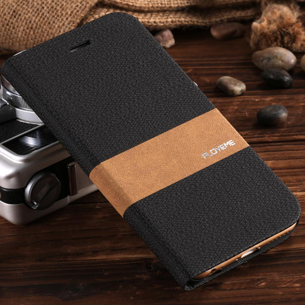 Original Stand Card Holder Cover for iphone6/6s 4.7 Luxury Flip Retro Mobile Phone Bags Linen Leather Case for Apple iphone 6/6s(China (Mainland))