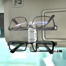 Dependable Car Sun Visor Clip Holder For Dual Sunglasses Eyeglass Reading Glasses Card Pen Ap1