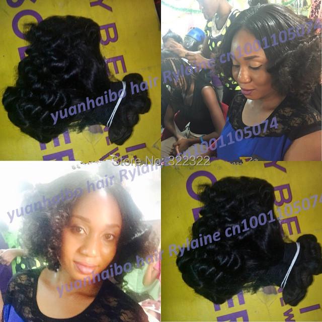 Здесь можно купить  7a grade 1b# 3pcs/lot 100% virgin russian romance curl aunty funmi hair for black women free shipping  Волосы и аксессуары