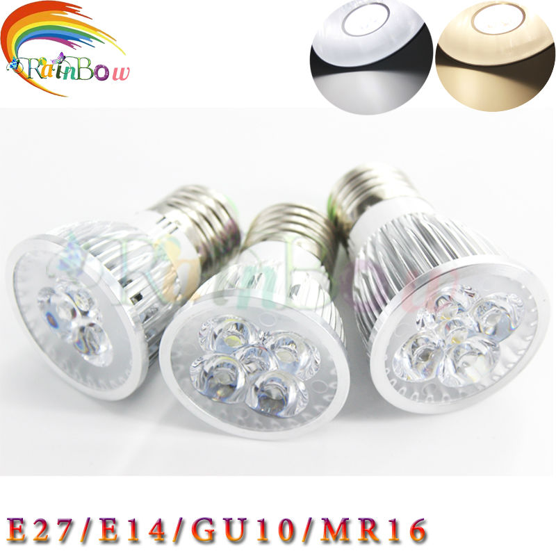 High power CREE Led Bulb 3W 4W 5W E14\E27GU10\MR16 Dimmable Led spot Light Spotlight LED lights downlight lighting free shipping(China (Mainland))