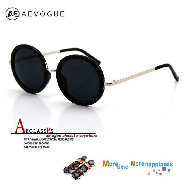 Newest aevogue новое ретро круглая рамка бренд солнцезащитные очки женщин мода мужская солнцезащитные очки UV400 CE DT0126