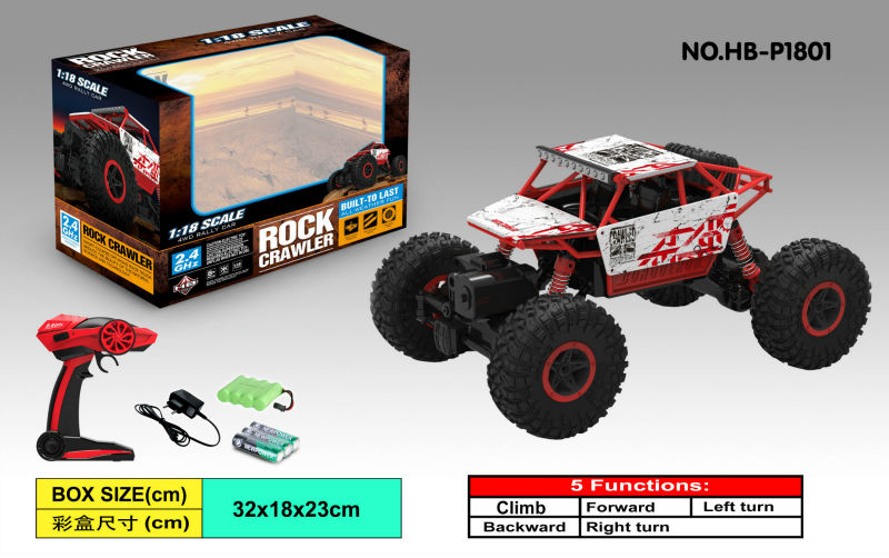 Free ship 4WD RC Car Rock Crawlers 4×4 Driving Car Double Motors Drive Bigfoot Car Remote Control Car Model Off-Road Vehicle Toy