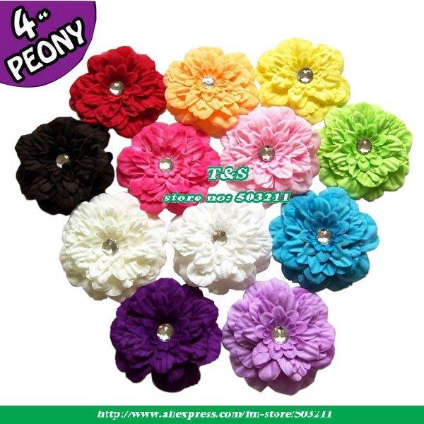 Fall Fantasy Peony Baby Flower Headband Newborn Headband Child Headband and  Photography Prop 60pcs/lot Fast shipping