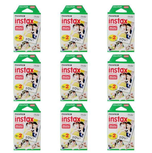 Genuine 9 Packs Fuji Instax Film Fujifilm For Mini 8 /50s 7 Mini 90 25 Share SP-1 Instant Cameras 180 White Sheets(China (Mainland))
