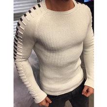 스웨터 남성 점퍼 2018 새로운 도착 캐주얼 풀오버 남자 가을 o 목 패치 워크 품질 니트 fjun 브랜드 남성 스웨터 S-2XL(China)