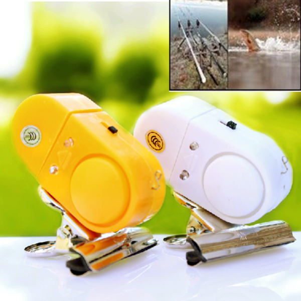 New Outdoor Fishing Alarm Bell Electronic Fish Bite Alarm Finder Sound Alert Running LED Clip On Fishing Rod Fly Fishing Tackle(China (Mainland))
