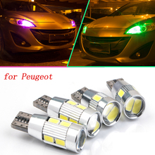 2pcs safe No error T10 light W5W high brightness LED Canbus Clearance Lights for peugeot new 301 207 307 206 2008 508(China (Mainland))