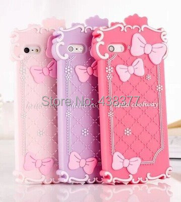 hello kitty bowknot 3D design for iphone 5 ,5s 5c no toxic siliconButter Lion series case dirt-resistant phone cover sleeve(China (Mainland))