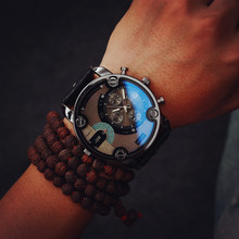 Unique disign Army belt table Korea trend of retro fashion Edison male and female students quartz watch large dial