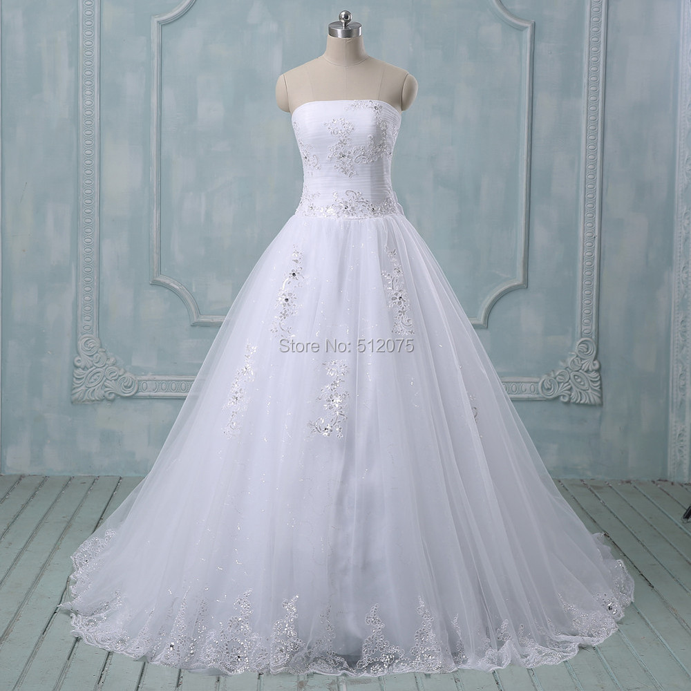 Buy 2015 new romantic white ivory wedding for White or ivory wedding dress