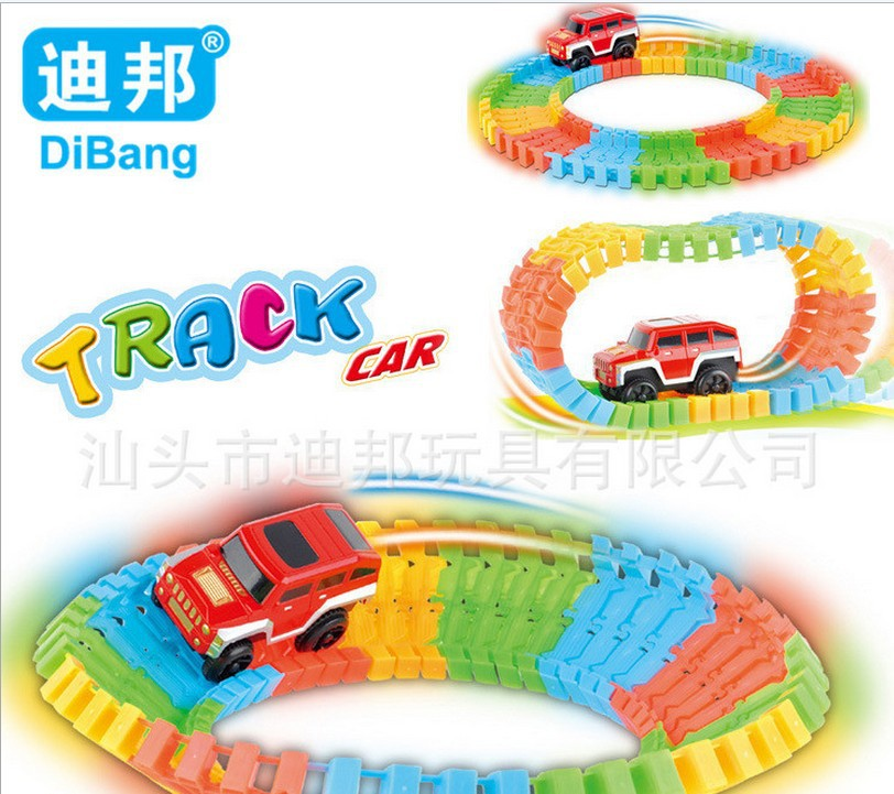 electronic educational building toys ROAD SET model car(China (Mainland))