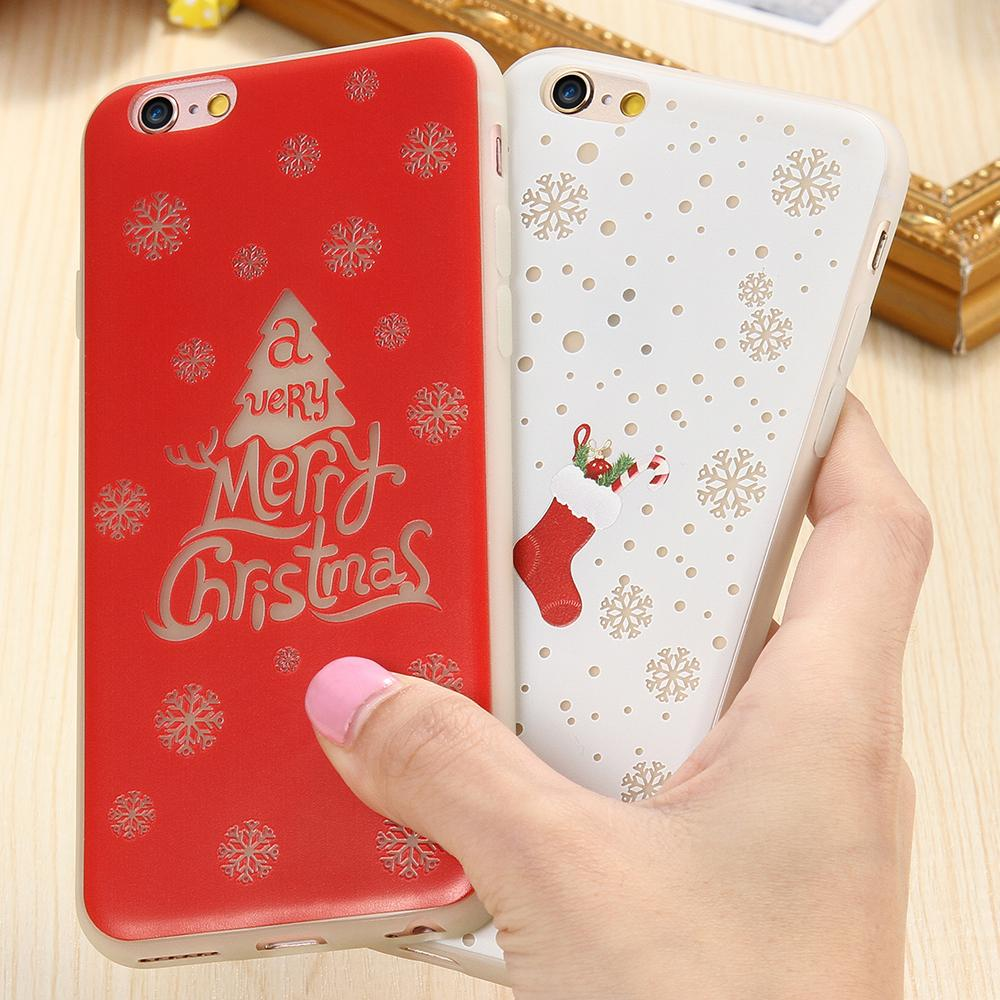 For iPhone 6 6s / For iPhone 6 6s Plus Case Art Print Pattern Christmas Tree Soft TPU Luminous Night Lights Cover For Iphon 6 s(China (Mainland))