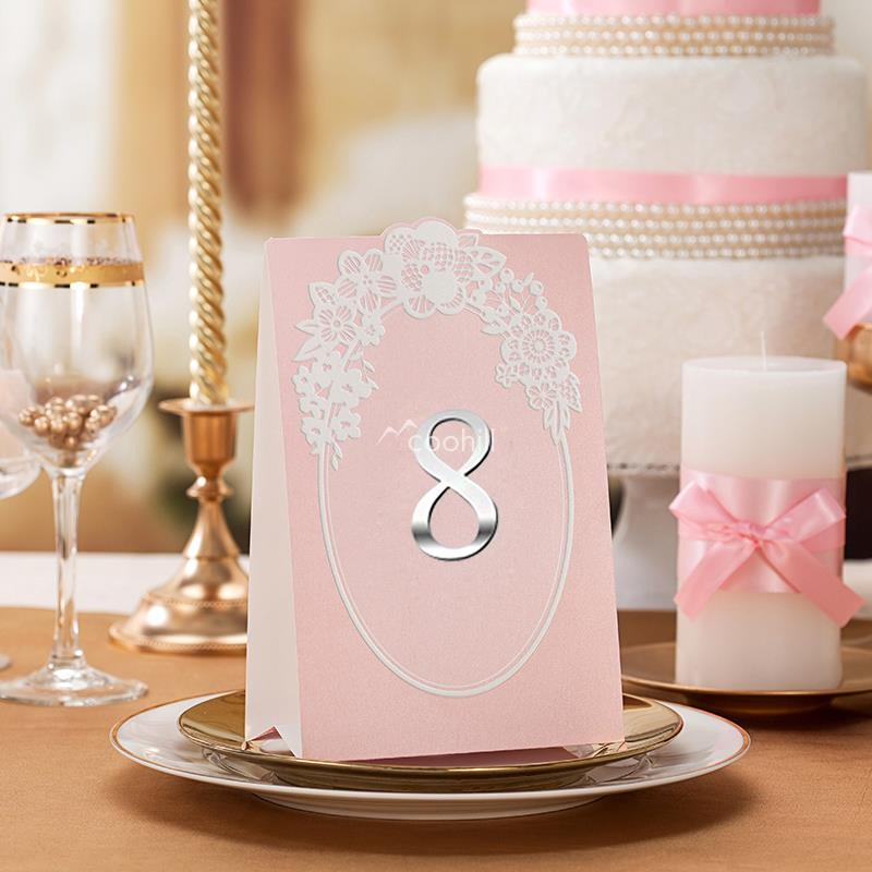 Buy 5 x wedding table numbers number for Number 1 decorations