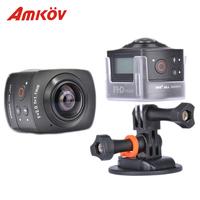 Original Amkov Amk100s Camera 360 Degree Sport Camera All View 1440P@30FPS HD WiFi Best 360 Camera Panoramic Action Camera