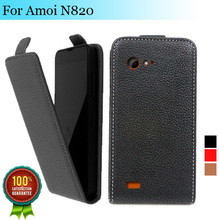 Factory price , Top quality new style flip PU leather case open up and down for Amoi N820 N821, gift(China (Mainland))