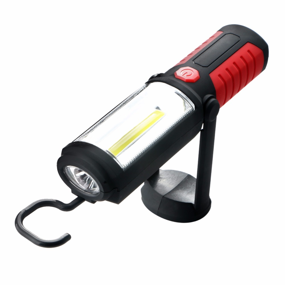 Powerful Portable 3000 Lumens COB LED Flashlight Magnetic Rechargeable Work Light 360 Degree Stand Hanging Torch Lamp For Work