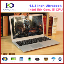 13.3 inch 5th generation i5 ultrabook computer with 8G RAM+256G SSD, 1920*1080,Metal Cover,WIFI,Bluetooth,Windows 10