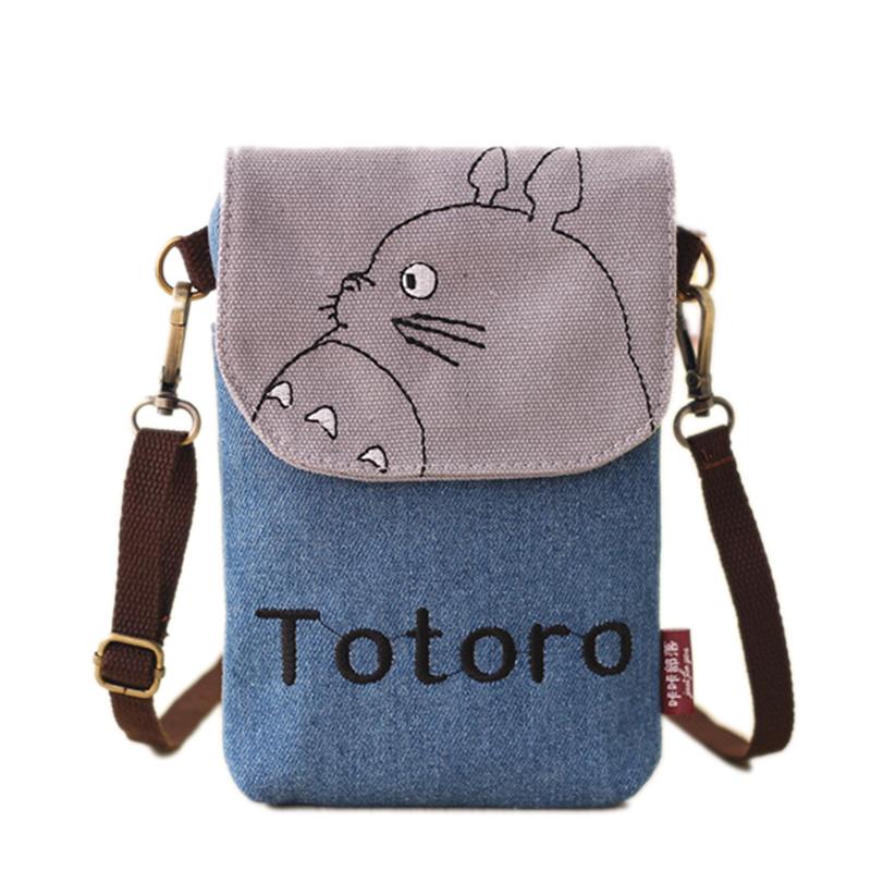 Hot Cartoon Bao Bao Totoro Crossbody Bag For Women Canvas Mini Shoulder Bags Female Clutch Purse And Handbags Main B013(China (Mainland))