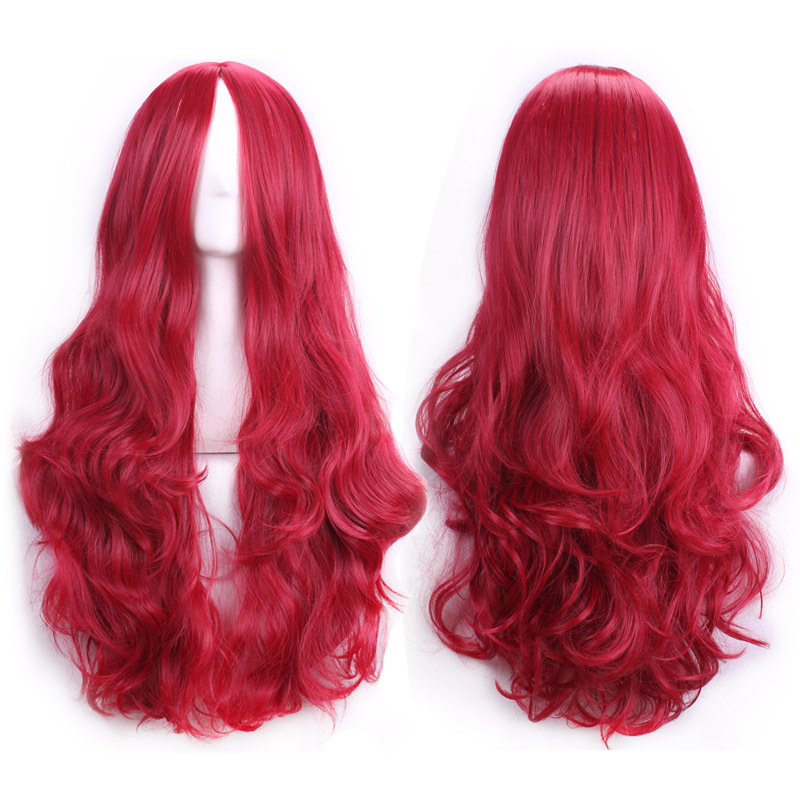 70 Cm Harajuku Anime Cosplay Wigs  New Sexy Womens Girls Fashion Style Wavy Curly Long Hair Human Full Wigs Peruca Perucas<br><br>Aliexpress
