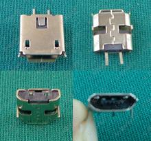 Mini MICRO USB jack connector 2P female plug Mike 2PIN V8 Android phone plug two-pin charging port 500X(China (Mainland))