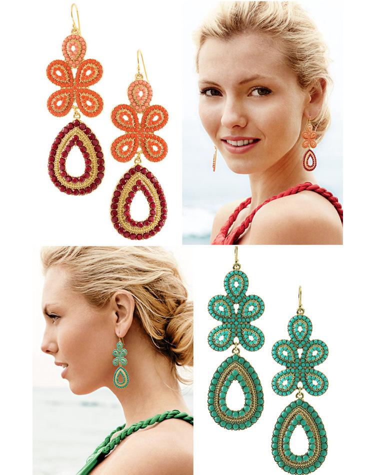 Серьги висячие H.X.Y ( earrings длинные висячие крупные серьги