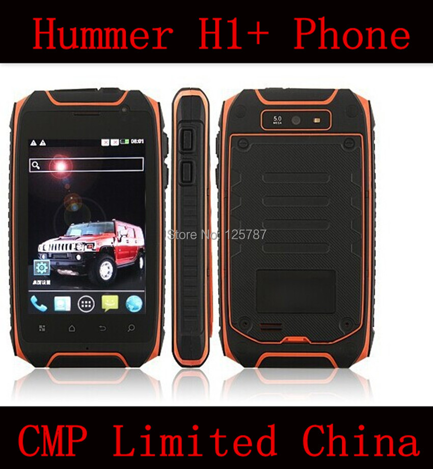 Free Shipping Free 3 Gifts Hummer H1+ IP67 Waterproof Dustproof Shockproof 3.5 Inch MTK6572 Core Android 4.2 GPS Cell Phone(China (Mainland))