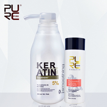 5% formalin 300ml keratin hair treatment and one piece 100ml purifying shampoo hot sale hair treatment 2015 hot sale(China (Mainland))