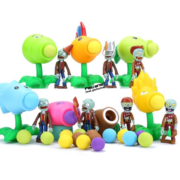 7pcs/set PVZ Plants vs. Zombies Peashooter PVC Action Figures Collectible Model Toys Kids Child Toys ANPZ020<br><br>Aliexpress