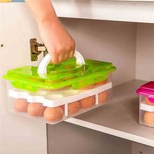 Egg Food Container Storage box 24 grid Bilayer Basket organizer home kitchen Gadgets Items Accessories Supplies Products