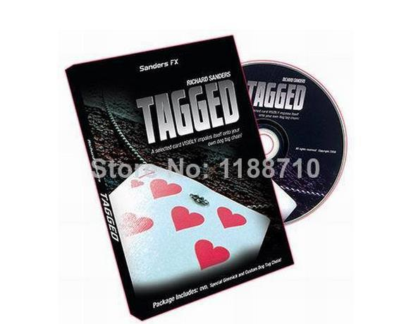 Free Shipping Tagged by Richard Sanders (DVD and Gimmick)-Magic Trick,Accessories,fire,mentalism,stage,close up,comedy(China (Mainland))