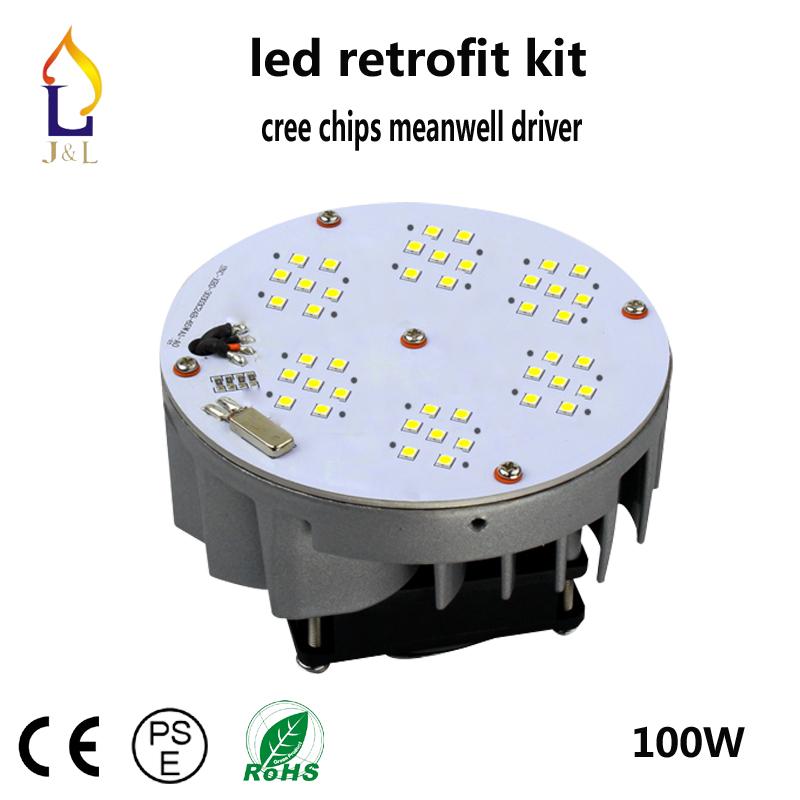Free shipping fedex warm/natural/cool white 100-277V 100w led Retrofit Kits street bulb lamp 6pcs/lot(China (Mainland))