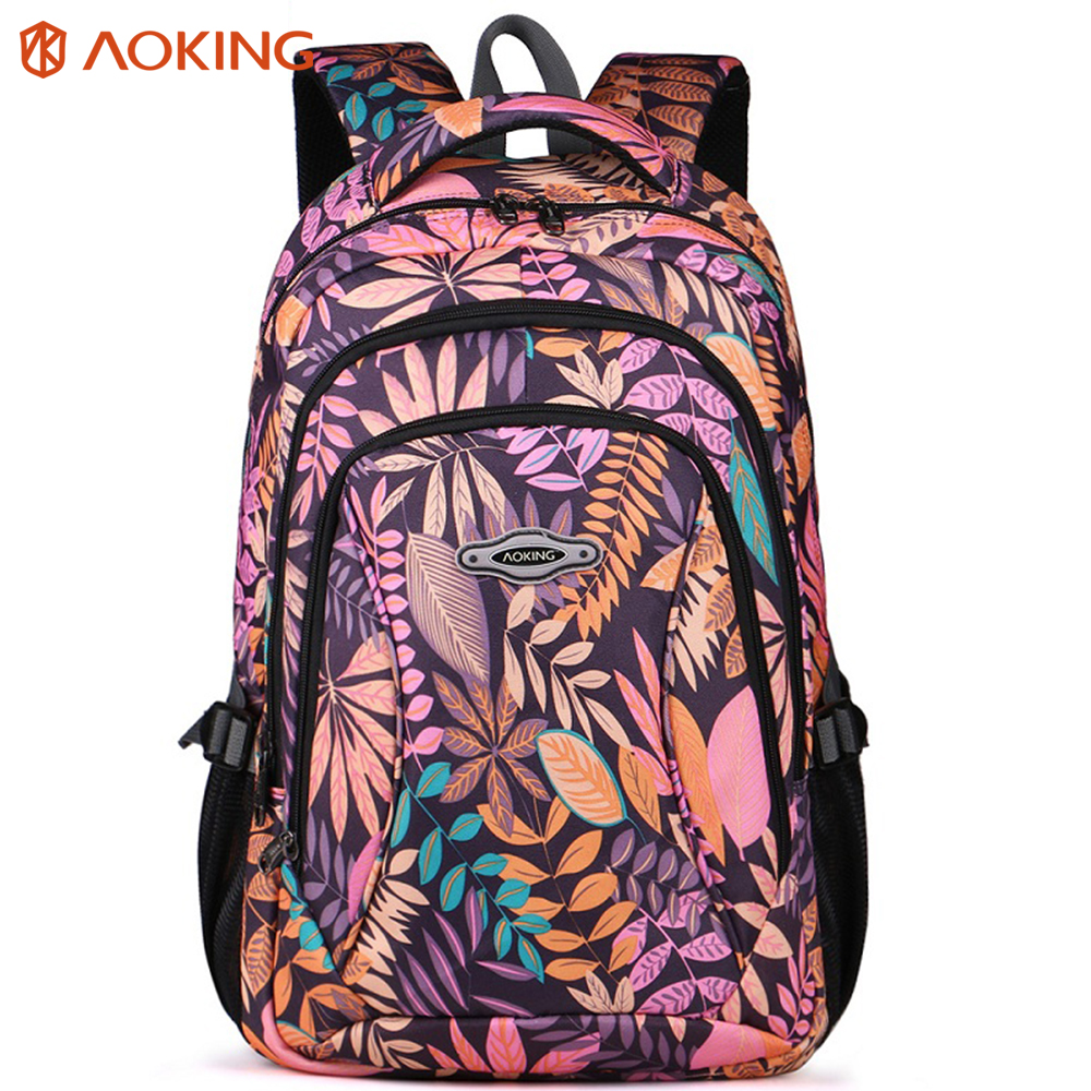 childrens designer bags 0s6d  Aoking Brand 2017 Daily Women Backpack For School Teenager Girls Flowers  Printed Nylon Travel Backpacks Casual Floral Backpack