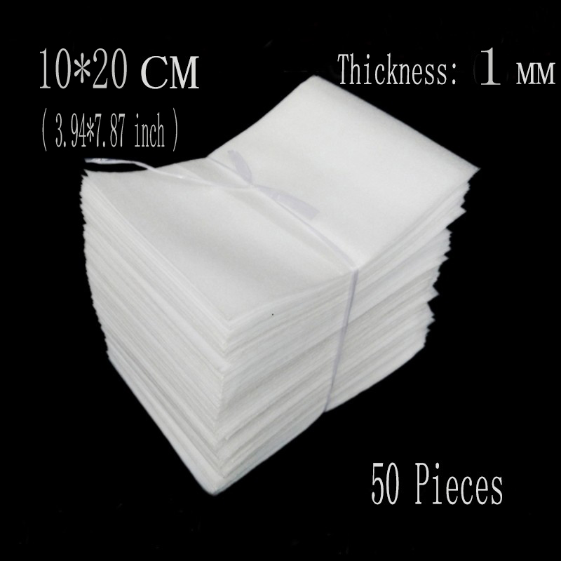 10*20cm (3.94*7.87 inch) 50Pcs 1mm Brand EPE Bag Protective Foam Board Insulation Packaging Material Air Cushion Eva Foam Sheet(China (Mainland))