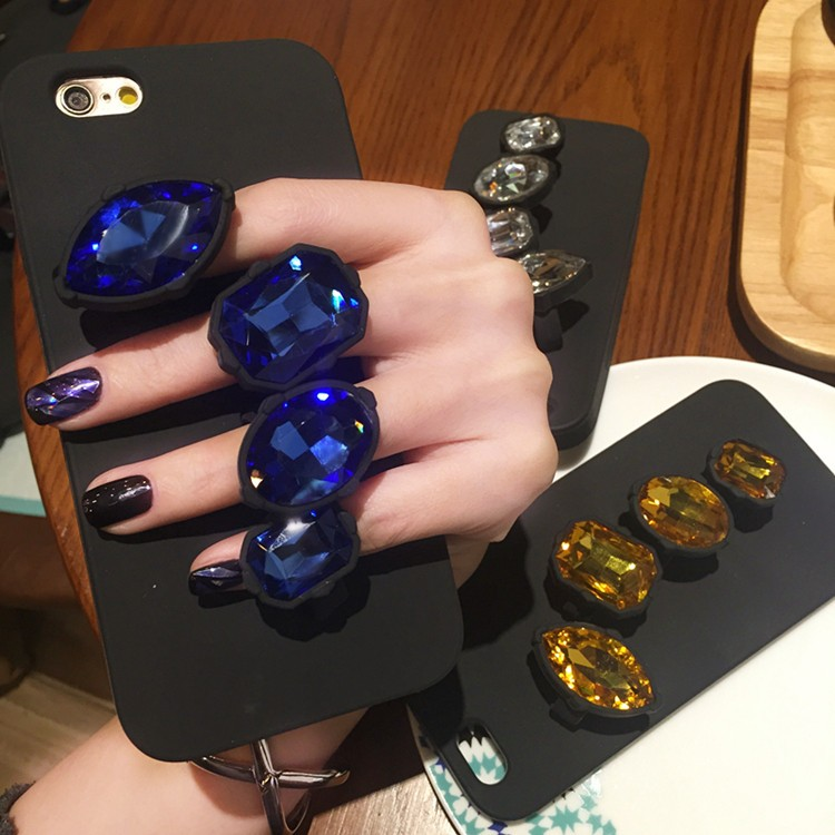 Hot ! 2016 Top quality Rhinestone bling Hard phone case for iphone 5 5s 6 6s 6s 6Plus 6sPlus Silicone Soft Cover case