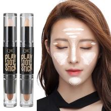 Double Facial Modified High Light Bar Concealer Cosmetics Shadow Nib Highlight Nib Created V Face Women Makeup 131-0238(China (Mainland))