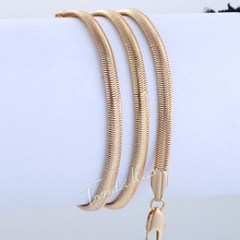 3 6mm Snake Herringbone Link Rose Yellow Gold Filled GF Mens Womens Chain Necklace Wholesale Gift