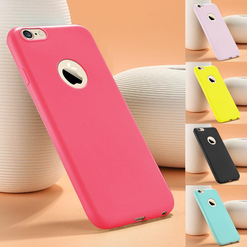 Solid Candy Color Matte Skin Case for iPhone 6S Case Gel TPU Rubber Soft Back Cover for iPhone 6Plus 6S Plus Silicon 5.5 inch
