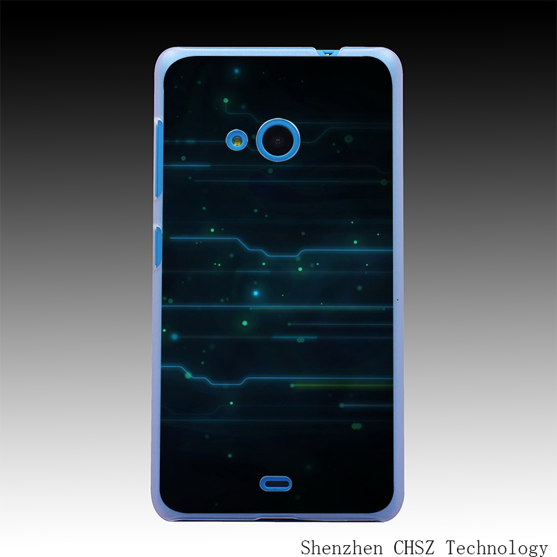 91O Blue Electric Current Hard Clear Case Transparent Cover for Microsoft Nokia Lumia 535 630 640 640XL 730(China (Mainland))