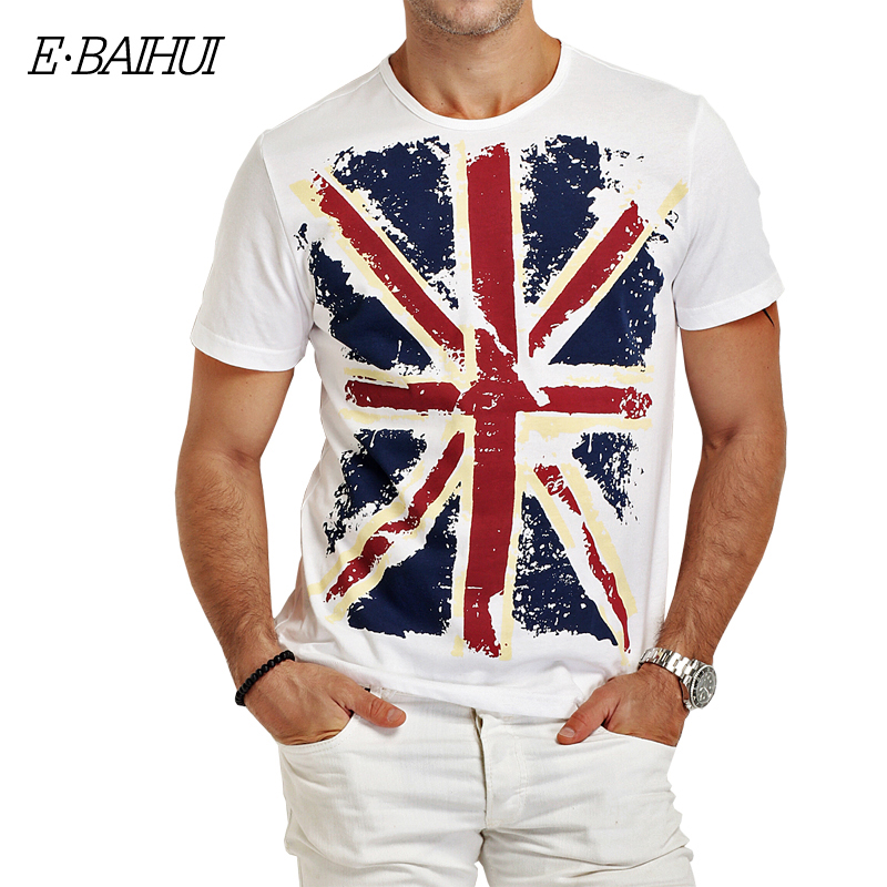 Baihui brand cotton men clothing male slim fit t shirt man t shirts