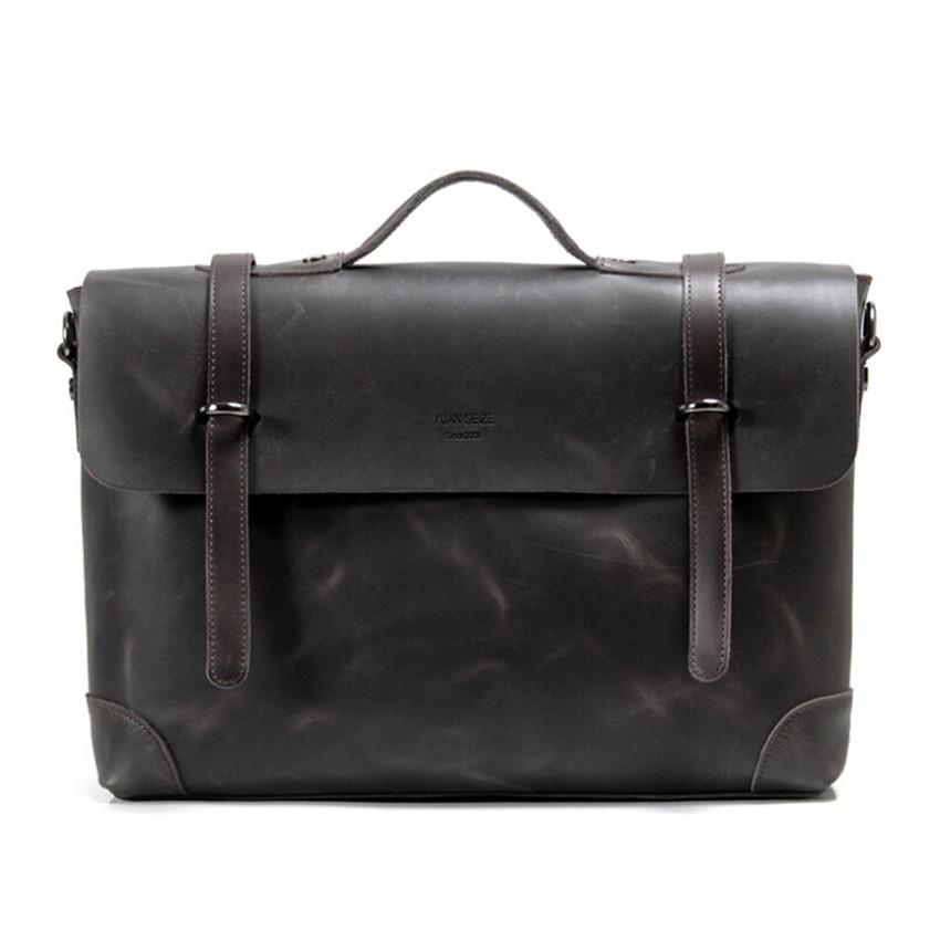 2016 New Arrival Brand Genuine Leather Men Messenger Bags Briefcase Travel Shoulder Bag Man Office Work Bag Men's Notebook Bag