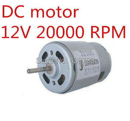 freeshipping 5x johnson 380 motor dc motor 12v 20000 rpm