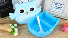 1050ml Cartoon Owl Lunch Box Food Fruit Storage Container Portable Cute Box Safety New Food Picnic Container for Children Gifts(China (Mainland))