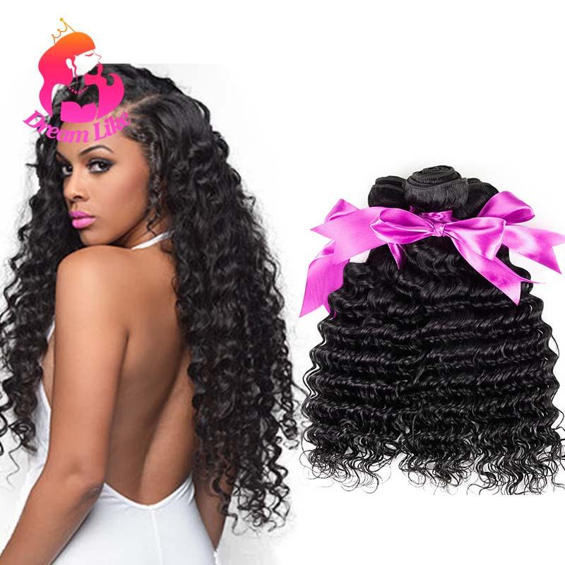 Top Quality 4 Bundles Malaysian Deep Wave virgin Hair 100 Human Hair Weave Natural Black 10A Malayaian Virgin Hair Deep Curly