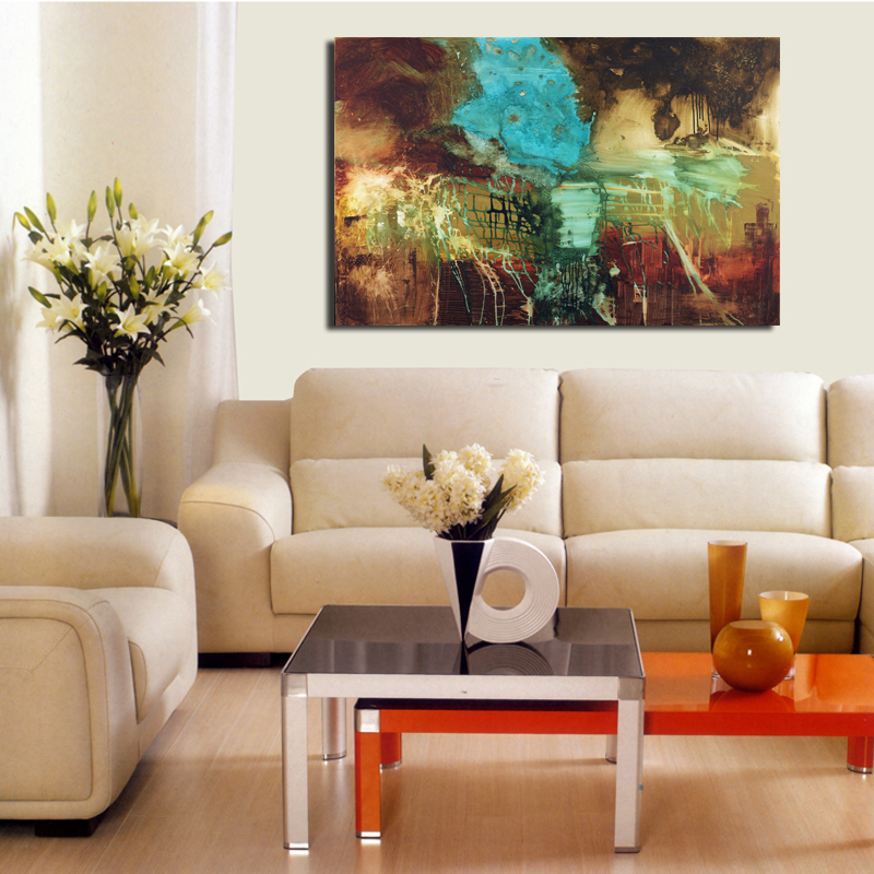 The famous living room oil painting Abstract art wall painting HD print canvas painting modern home living room art pictureCX-12(China (Mainland))