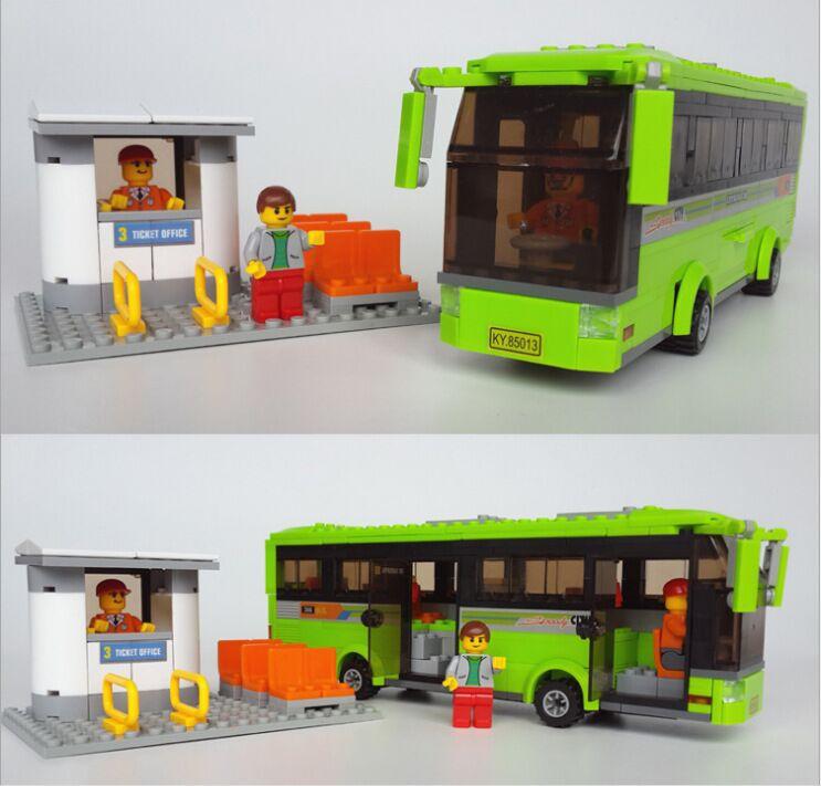 New Kazi Express car City Bus Building Blocks 364pcs/set DIY Enlighten Model car Kits Building Bricks Compatible with lego toys(China (Mainland))