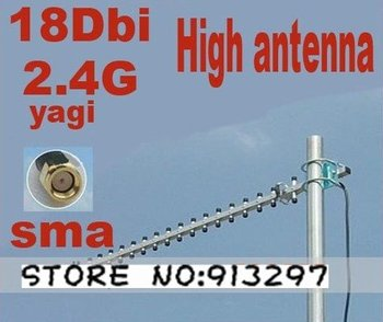 Direct Marketing Wifi 3G Yagi Outdoor 2400MHz Directional High Gain Antenna 18dbi Connector-RP-SMA Free shipping